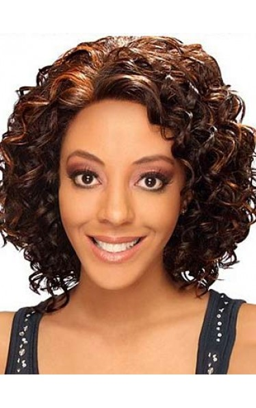Curly Medium Bob Wig