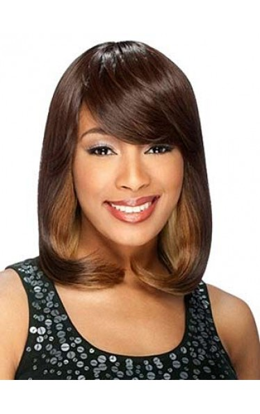 Hand Knitted Wavy Full Bang African American Wigs